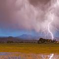 Lightning Striking Longs Peak Foothills 7c by James BO  Insogna