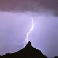 Lightning Striking Pinnacle Peak Scottsdale Az by James BO  Insogna