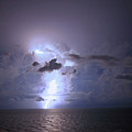 Lightning Striking The Gulf  by James Jones