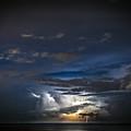 Lightning's Water Dance by Steven Santamour