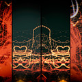 Lightpainting Quads Art Print Photograph 1 by John Williams