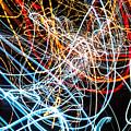 Lightpainting Single Wall Art Print Photograph 9 by John Williams