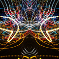 Lightpainting Symmetry Wall Art Print Photograph 1 by John Williams