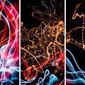 Lightpainting Triptych Wall Art Print Photograph 5 by John Williams