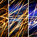 Lightpainting Triptych Wall Art Print Photograph 6 by John Williams