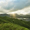 Lightrays Over Ko'olau Mountains by Charmian Vistaunet
