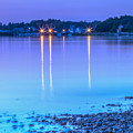 Lights Across The Bay by Leigh Grundy