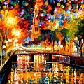 Lights And Shadows Of Amsterdam by Leonid Afremov