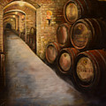 Lights In The Wine Cellar - Chateau Meichtry Vineyard by Jan Dappen