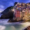 Lights Of Riomaggiore by Michael Blanchette