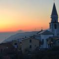 Ligurian Sunset by Chlaus Loetscher