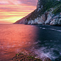 Ligurian Sunset - Vertical by Michael Blanchette