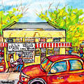 Lil Dizzy's Cafe New Orleans Watercolor Painting American Streetscene Baseball Kids Red Ford Pickup  by Carole Spandau