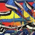 Lil Funky Folk Fish Number Nine by Robert Wolverton Jr