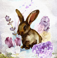 Lilac And Bunny by Mo T