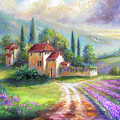 Lilac Fields In The Italian Countryside   by Regina Femrite