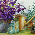 Lilacs And Ball Jars by Lois Mountz