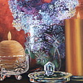 Lilacs And Candles by Lorraine Vatcher