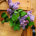 Lilacs In A Straw Purse by Sandra Cunningham