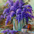 Lilacs Still Life by Gail Salitui