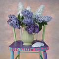 Lilacs With Chair And Shell by Jeff Burgess
