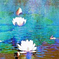 Lilies In Abstract by Janette Boyd