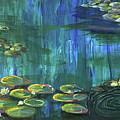 Lilies To Pine Pond by Christine Dekkers