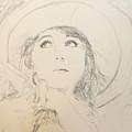 Lillian In Hat by N Willson-Strader