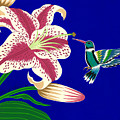 Lily And Hummingbird by Lucyna A M Green