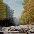 Lily Creek On Cumberland Lake by Sam Davis Johnson