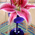 Lily On A Painted Table by Lucyna A M Green