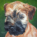 Lily, Soft Coated Wheaten Puppy by Monika Brauer