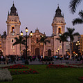 Lima Cathedral At Night by Bob Phillips