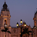 Lima Cathedral Twin Towers One by Bob Phillips