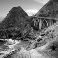 Lime Creek Bridge Highway 1 Big Sur Ca B And W by Joyce Dickens