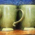 Lime Green Cups by Paulette B Wright