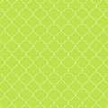 Lime Punch Quatrefoil by Ashley Wann