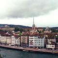 Limmatquai In Zurich Switzerland by Susanne Van Hulst