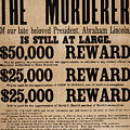 Lincoln Assassination Reward Poster by American School