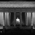 Lincoln At Night Bw by Don Keisling