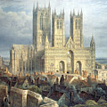 Lincoln Cathedral From The North West by Frederick Mackenzie