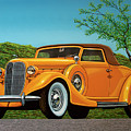 Lincoln K Convertible 1935 Painting by Paul Meijering
