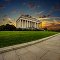 Lincoln Memorial Sunset by Chris Bordeleau
