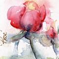 Linda's Rose Watercolor by CheyAnne Sexton
