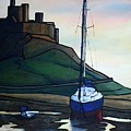 Lindisfarne At Low Tide. by John Cox
