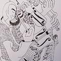 Line Art - The Violinist by James Lavott