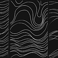 Lines 1-2-3 White On Black by Helena Tiainen