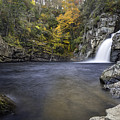 Fall Colors At Linville Falls Plunge Basin by Ken Barrett