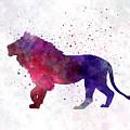 Lion 01 In Watercolor by Pablo Romero