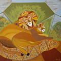 Lion And Lioness by Ron Snyder